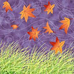 Syksyn lehdet tuulessa