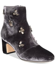 Anne Klein Glinda Velvet Booties - All Women's Shoes - Shoes - Macy's