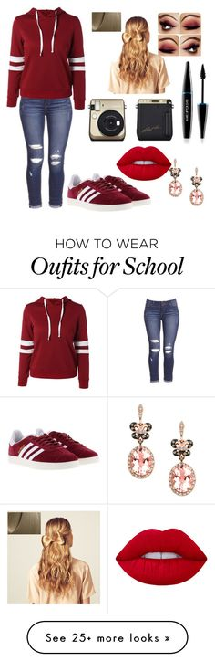"""School spirit"" by farfaralex on Polyvore featuring adidas, Hershesons, Lime Crime, MAKE UP FOR EVER and Effy Jewelry"