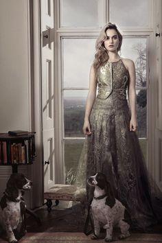 Lily James - David Slijper Photoshoot for Town & Country Magazine UK