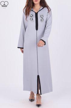 Jellaba Ghizlane 300 Dhs Mode Hijab, Comfortable Outfits, Kaftan, Duster Coat, Cold Shoulder Dress, Jackets, Collection, Prestige, Tops