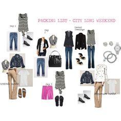 Packing List - Long Weekend Away (City)