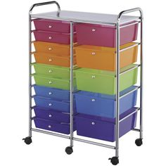 Double Storage Multicolor 15-drawer Rainbow Craft Sewing Scrapbooking Organizer Storage Rolling Cart Dresser Yarn  sc 1 st  Pinterest : storage rolling carts  - Aquiesqueretaro.Com