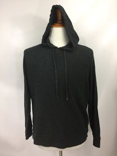 Vince Mens Hoodie Navy Blue Cotton Hooded Pullover Long Sleeve Size L   | eBay