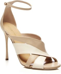 Love this: Twotone Leather Sandals @Lyst