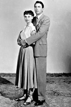 """Audrey Hepburn & Gregory Peck in """"Roman Holiday"""""""