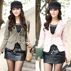 2013 spring new Women Korean temperament Slim personalized long - sleeved short coat cashmere coat 024037A13 - ZZKKO http://zzkko.com/n539709  23.16