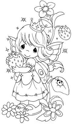 Precious Moments Coloring Page(s).