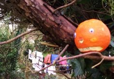 Mr Angry Orange normally doesn't climb trees. Get ... me... down ... he gritted.