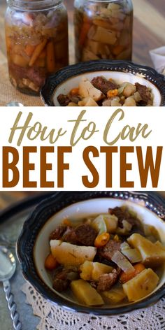 How to Can Beef Stew - I love these canned chickens and canned beef stews. For me they close the loop on sustainability. Its one thing to be able to grow or rear it, its another to be able to process it, its another skill set entirely to be able to prepare it.