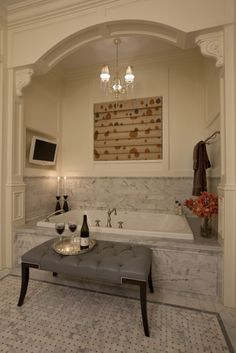 Love the tub nook.