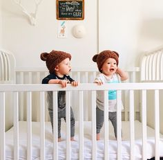 the only thing better than a baby, two babies!   @modernburlap loves