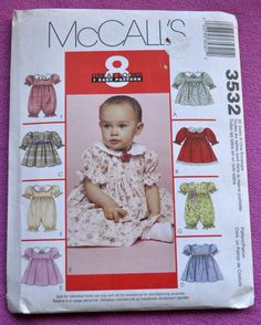McCall's 3532  Adorable Dressy Baby Dresses and by Clutterina