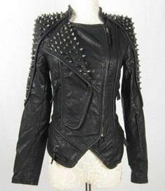 Etsy Item of the Day: Spiked Rocker Jacket in Vegan Leather by Blood Rose Mystique