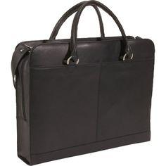 Click Image Above To Buy: Derek Alexander Leather Slim Top Businesscomputer Case - Black