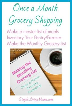 Once a Month Grocery Shopping Series - Simple Living Mama