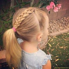 Cute Baby Toddler Girl Hairstyles : It is always difficult to do hair of the little one. Kids around a year or two years old hit an awkward stage where the hair do does not fit quietly well. So I decided to come up with the darling and interesting ideas Easy Toddler Hairstyles, Baby Girl Hairstyles, Hairstyles For School, Trendy Hairstyles, Braided Hairstyles, Children Hairstyles, Short Haircuts, Black Hairstyles, Hairdos
