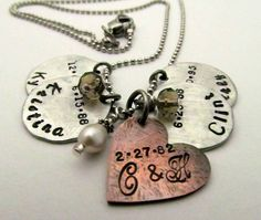 Personalized Hand Stamped Mom Necklace  by FiredUpLadiesHammer, $36.00