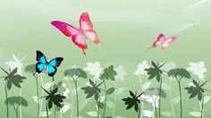 Vector Design Flowers And Butterflies Wallpaper X Full HD