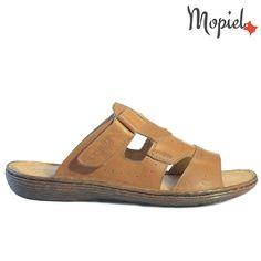 Papuci barbati din piele naturala 700/Maro/Gabriel