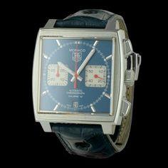 TAG HEUER - New Monaco Mc Queen Chronographe , cresus montres de luxe d'occasion, http://www.cresus.fr/montres/montre-occasion-tag_heuer-new_monaco_mc_queen_chronographe,r2,p24146.html