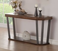 Selma Sofa Table in Tobacco - Acme Furniture 84093 Acme Furniture, Console Table, Entryway Tables, Sofa, Home Decor, Style, Products, Swag, Settee