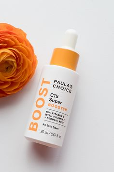 This Super Booster visibly brightens skin while improving the appearance of wrinkles and fine lines. Use alone or add a few drops to your moisturizer. Paula's Choice Skincare, Toner For Face, Uneven Skin Tone, Skin Brightening, Vitamin C, Sephora, Choices, Pure Products, Beauty Products