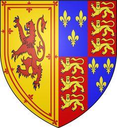 Arms of Margaret Tudor , Queen of Scots Margaret Tudor, Dutch Princess, Medieval Shields, Tudor Dynasty, Family Crest, Coat Of Arms, Scotland, Kids Rugs, History