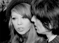 1966 - George Harrison and his wife Pattie Boyd.