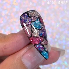 Nail Art Designs Videos, Nail Art Videos, Nail Designs, Diy Acrylic Nails, Gel Nails, Nail Art Hacks, Nail Art Diy, Pink Nail Art, Colorful Nails