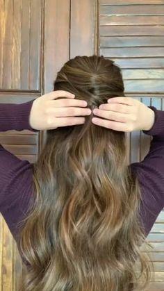 Open Hair Hairstyles, Bobby Pin Hairstyles, Hairdo For Long Hair, Curly Hair Tips, Front Hair Styles, Curly Hair Styles, Hair Style Vedio, Hair Curling Tips, Hair Beauty