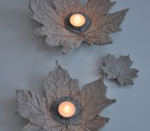 ljusfat,betong,löv,gjuta,betonglöv,pyssel Concrete Leaves, Concrete Cement, Diy Cans, Autumn Crafts, Unusual Gifts, Fall Diy, Craft Work, Diy Projects To Try, Yard Art