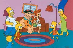 The Simpsons and the Flintstones