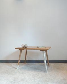 table de salon vintage relookée par üpslala - marqueterie - laque
