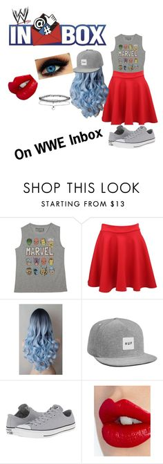 """""""On WWE Inbox"""" by baileyxxwwe ❤ liked on Polyvore featuring Marvel, Converse, Charlotte Tilbury and Miss Selfridge"""