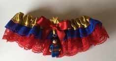 Super Man Super Hero Lego Comic Geek Bride by RockababyBibsNBobz