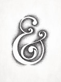 My treatment of an ampersand that I drew and created using a stipple effect of the negative space.All artwork is printed on a quality, white 96lb, acid free paper.