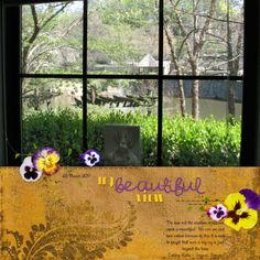 Pansy Garden + digital scrapbooking kit from Touched by a Butterfly