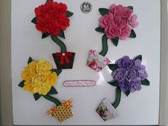 Um lindo presente feito em casa por você mesmo..Enfeite de geladeira,passo a passo. - YouTube Felt Flowers, Floral Wreath, Projects To Try, Wreaths, Crochet, Cool Stuff, Crafts, Bunny Crafts, Mothers Day Crafts