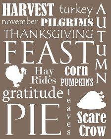 RACKS and Mooby: Printable Thanksgiving Subway Art