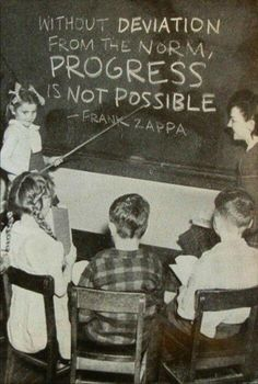 Without deviation from the norm, progress is not possible. - musician Frank Zappa
