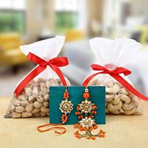 Bhaiya Bhabhi Rakhi with Cashews and Pista