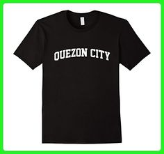 Mens QUEZON CITY Arch T-Shirt Athletic Sports Gym Small Black - Workout shirts (*Amazon Partner-Link)