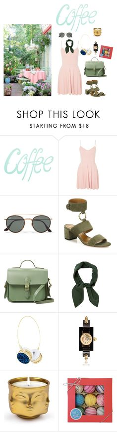 """""""Little things"""" by audrey-balt on Polyvore featuring Topshop, Ray-Ban, Aquazzura, The Cambridge Satchel Company, Chloé, Gucci, Jonathan Adler and Fizz & Bubble"""