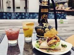 Food Blog Bali  #sunbathing at the Skylight rooftop bar @sunislandbali #legian with some cocktail food & #shisha from @AljazairShishaBali  Sun wrap: chicken lettuce tomato capers mayo (45k)  Strawberry roska: strawberry mixed with vodka sweet sour white sugar (78k)  Sun island special: vodka banana liquor fresh orange lime ginger ale (80k)  Shisa: double apple mint orange kiwi cocktail bublegum strawberry (90k)  All nett
