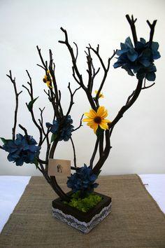 Hydrangea Manzanita Tree Centerpiece  - Wedding
