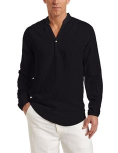 Cubavera Men's Long Sleeve Linen Rayon Texture « Clothing Impulse
