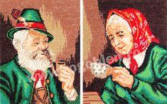 Cod produs 1.10 Bunicul si Bunica Culori: 20 Dimensiune: 11 x 14cm Pret: 37.20 lei Lei, Cross Stitch, Painting, Grandchildren, Embroidery, Crossstitch, Painting Art, Paintings, Paint
