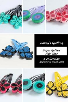 A collection of paper quilled hairclips and tutorials to help you make them…