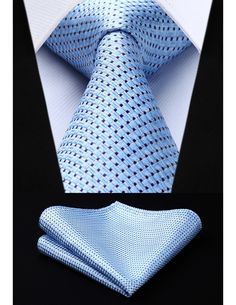Mens Suit Accessories, Classic Style, Classic Fashion, Tie And Pocket Square, Blue Check, Jacquard Weave, Tie Knots, Silk, Party Wedding
